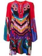 Roberto Cavalli Floral Jacquard Shift Dress - Multicolour