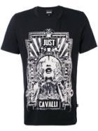 Printed T-shirt - Men - Cotton - Xxl, Black, Cotton, Just Cavalli