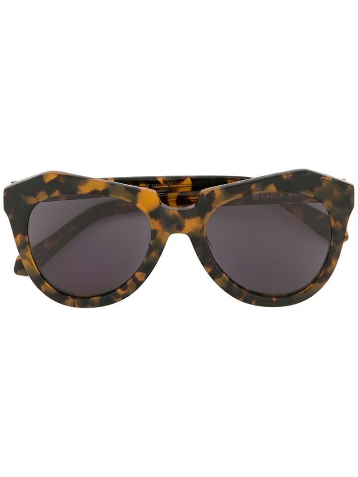 Karen Walker Number One Crazy Sunglasses - Brown