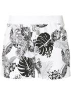 Loveless Palm Print Shorts - White