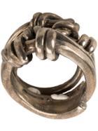 Tobias Wistisen Stone Ring, Adult Unisex, Size: 54, Metallic