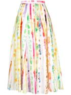 Rosie Assoulin Printed Pleated Skirt - Neutrals
