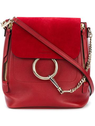 Chloé Faye Small Backpack - Red