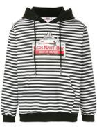 Gcds Striped Hoodie - Black