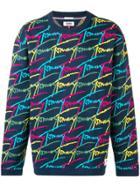Tommy Jeans Logo Print Jumper - Blue