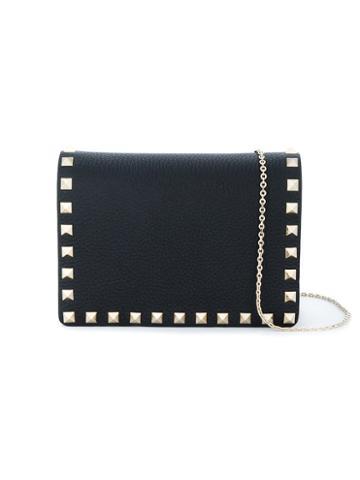 Valentino - Mini The Rockstud Shoulder Bag - Women - Leather/metal - One Size, Black, Leather/metal