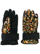Dsquared2 Floral Ski Gloves - Black