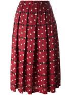 Comme Des Garçons Comme Des Garçons Pleated Polka Dot Skirt