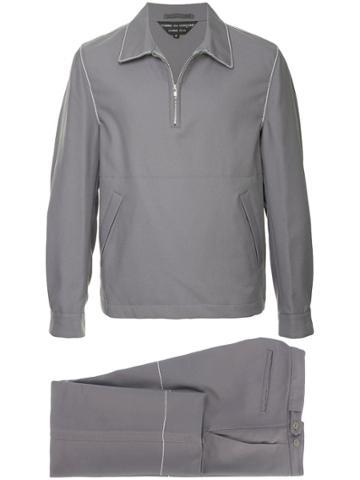Comme Des Garçons Vintage Zipped Neck Tracksuit Set - Grey