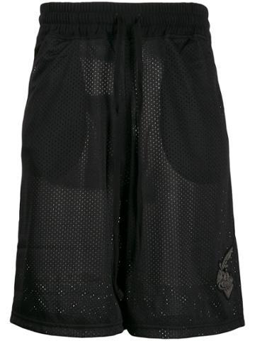 Vivienne Westwood Anglomania Mesh Track Shorts - Black