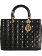 Christian Dior Vintage Large 'lady Dior' Tote, Women's, Black