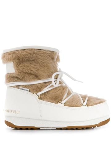 Moon Boot Monaco Lace-up Boots - White