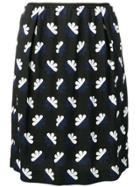 Odeeh Floral Pattern Skirt - Blue