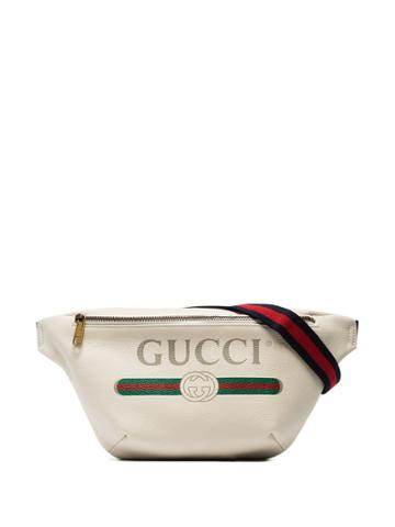 Gucci Oversized Logo Belt Bag - White