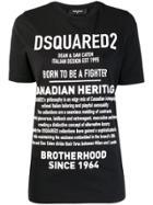 Dsquared2 Description Print T-shirt - Black
