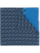 Fefè Patterned Scarf - Blue