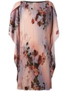 Antonio Marras Floral Print Dress - Pink & Purple