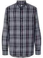 Brioni Plaid Shirt - Black