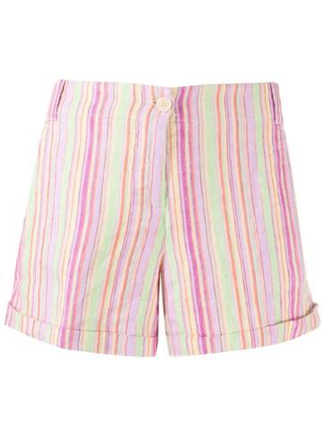 Aspesi Striped Short Shorts - Pink