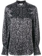 Equipment Leopard Print Blouse - Grey