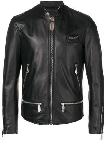 Philipp Plein Moto Jacket - Black