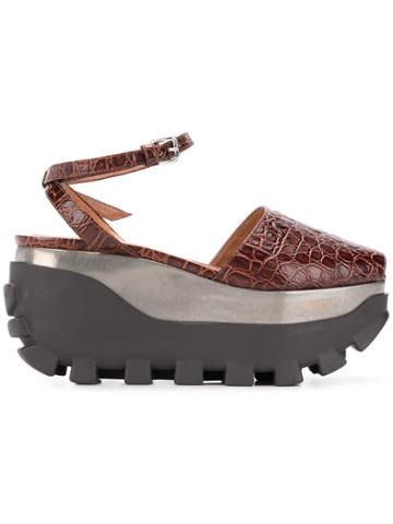 Marni 80 Platform Sandals - Brown