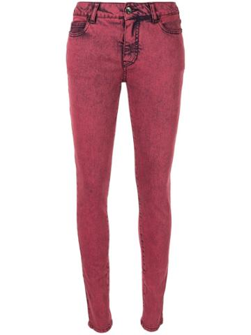 Chanel Vintage Cc Logos Casual Denim Long Pants - Red