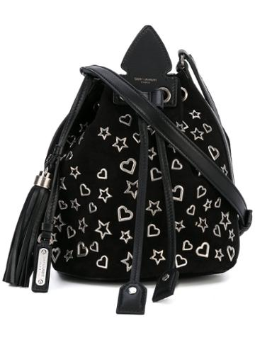 Saint Laurent - Metal Charm Shoulder Bag - Women - Calf Leather - One Size, Black, Calf Leather