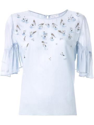 Megan Park 'gilda' Embroidered Blouse