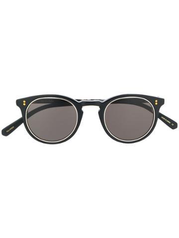 Garrett Leight Marmont S Round-frame Sunglasses - Black