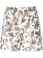 Tory Burch Floral Print Shorts