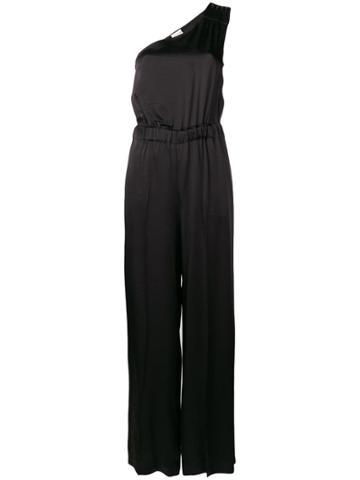 Semicouture One Shoulder Jumpsuit - Black