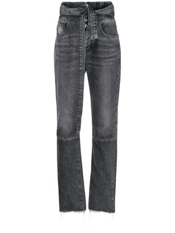 Unravel Project High-waisted Denim Jeans - Black