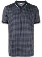 Lanvin Patterned Polo Shirt - Black