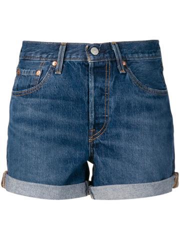 Levi's Short Denim Shorts - Blue