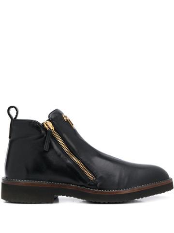 Giuseppe Zanotti Logo Plaque Ankle Boots - Black