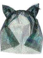 Maison Michel Iridescent 'heidi' Headband, Women's, Black, Polyester