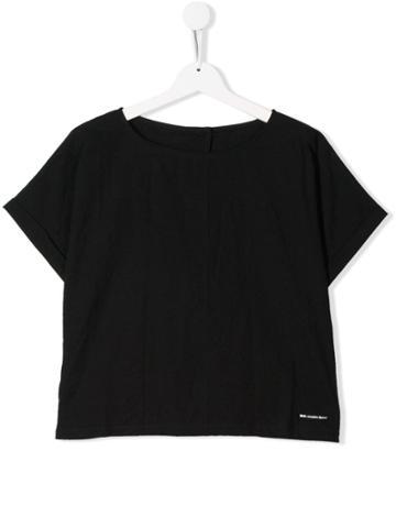 Little Creative Factory Kids Teen Boat Neck T-shirt - Black