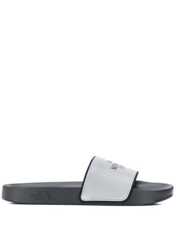 The North Face Embossed Logo Pool Slides - Black