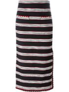 Boutique Moschino Striped Woven Skirt
