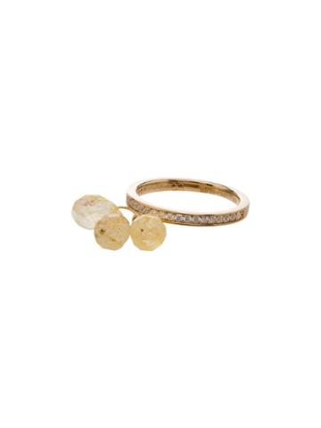 Apples & Figs Sea Foam Charm Ring - Gold