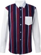 Comme Des Garçons Shirt Striped Panel Shirt
