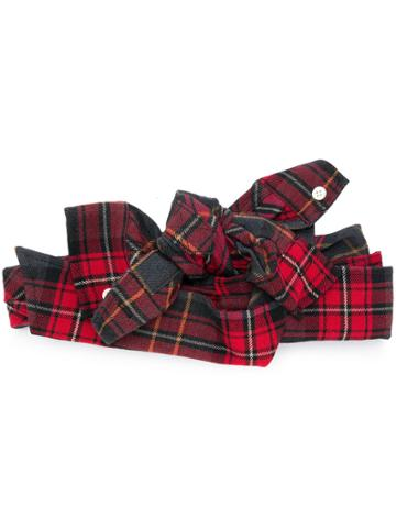 Ca4la Tartan Bow Headband - Red