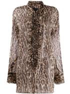 R13 Leopard Print Blouse - Brown