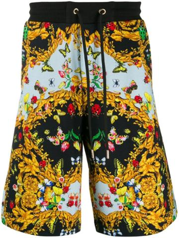 Versace Jeans Couture Printed Shorts - 899 Black