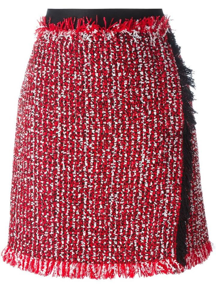 Lanvin Wrap Tweed Skirt