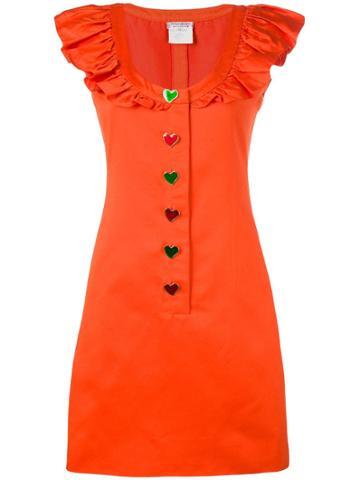 Yves Saint Laurent Pre-owned Sleeveless Ruffled Dress - Orange