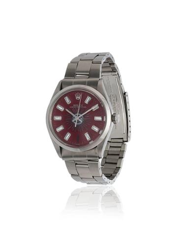 Jacquie Aiche Vintage Rolex Eye Diamond Watch - Red
