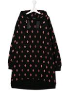Marcelo Burlon County Of Milan Kids Teen Logo Sweatshirt Dress - Black