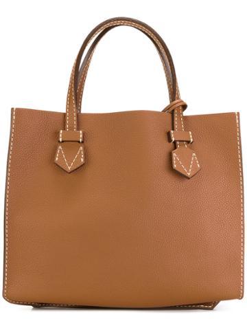 Moreau Medium Tote Bag, Women's, Brown, Calf Leather/goat Skin